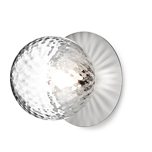 Nuura Liila Wall/Ceiling Lamp Silver/Transparent