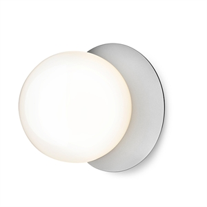 Nuura Liila Wall/Ceiling Lamp Silver/Opal White