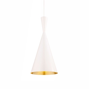 Tom Dixon Beat Tall Lámpara Colgante Blanco