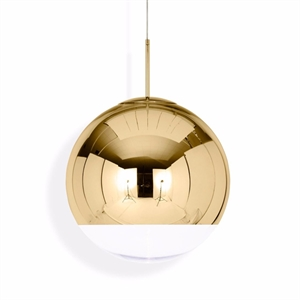 Tom Dixon Mirror Ball Lámpara Colgante Grande Dorado